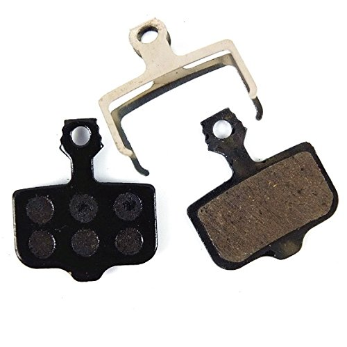 Juscycling Resin Organic Semi-Metal Brake Pads for Avid Elixir R Cr Mag 9 7 5 3 1 Xx X0 World Cup, Noise Control, Smooth Braking, Long Life, Kevlar, Copper
