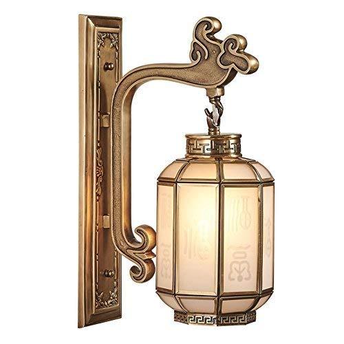 WHKHY Lampe de Table en cuivre, Lampe de Table, Feux de Direction, Chambre à Coucher, café-Club, Bar-Restaurant dans Le Style Chinois,27 * 42cm