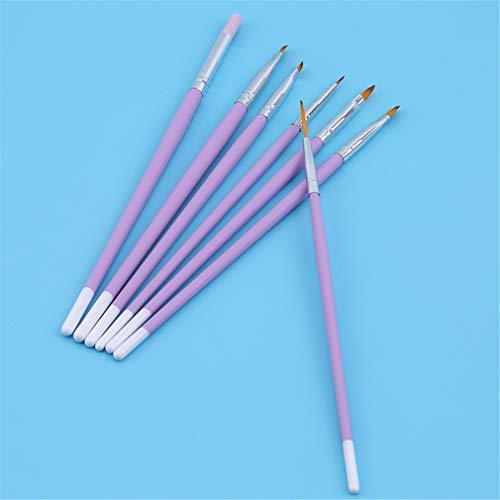 Sperrins Ensemble de pinceaux Professionnels pour Nail Art Liner Pens Striping Brushes for Short Strokes, Details, Blending