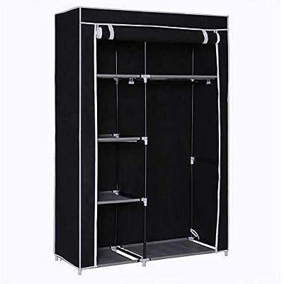 Anva Fancy and Portable Foldable Closet Wardrobe with Shelves (Random Colour)