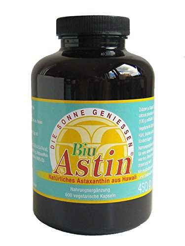 Astaxanthin I 600 Kapseln I Ivarssons BiuAstin I 4 mg natürliches Astaxanthin I Sonnenschutzkapseln mit Vitamin E I pflanzlicher Zellschutz I natürlicher Sonnenschutz
