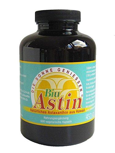 Astaxanthin aus Hawaii - BiuAstin 600 vegetarische Kapseln | Hawaii | mit 4 mg natürlichem Astaxanthin - Das Original Ivarsson\'s BiuAstin