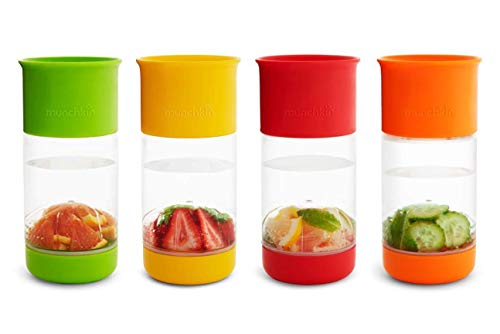 Munchkin Miracle 360 Fruit Infuser Sippy Cup, 14 oz/414 ml, Assorted Colours