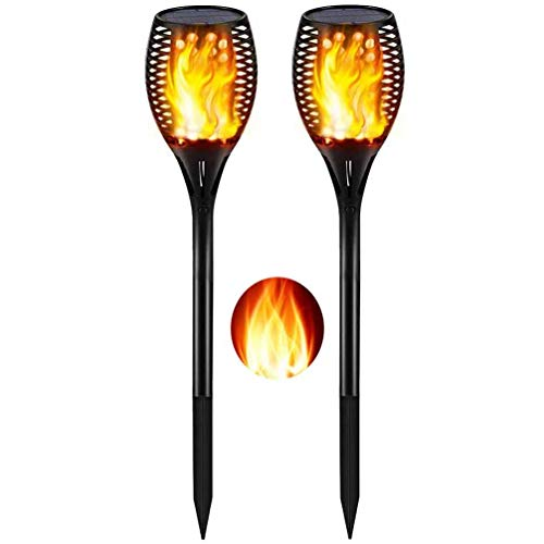 Solar Lights Outdoor Upgraded-Flickering Flames Torch Lights Solar Light-Dancing Flame Lighting 96 LED Dusk To Dawn Flickering Tiki Fackering Tiki Fackering Tiki Fackeln Outdoor Waterproof Garden2Pack