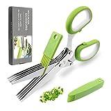 Herb Scissors by JYTUUL - Stainless Steel 5...