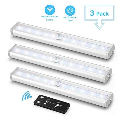 3er LED Unterbauleuchte für Küche, Fansteck...