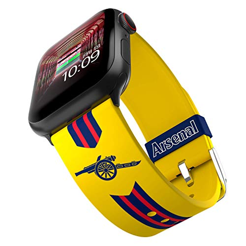 Arsenal Football Club - Arsenal Retro Smartwatch Band - Licencia oficial, compatible con Apple Watch (no incluido) - Se adapta a 38 mm, 40 mm, 42 mm y 44 mm