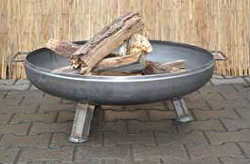 Feuerschale 550 mm Feuerkorb Stahl Pflanzschale Klöpperboden Terrassenfeuer