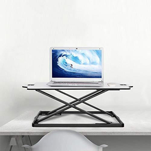 QiHaoHeji Mesa De Pie Ajustable Sit Soporte de sobremesa Equipo estación de Trabajo Ajustable Soporte for Escritorio for PC Pantalla de Ordenador portátil Teclado Mesa para Laptop