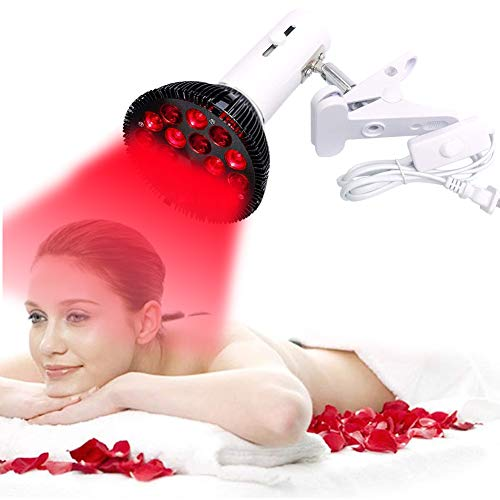 EFGSbed Rote LED-Rotlichtlampe Lampe, 58W Combo Rot Glühbirne Ständer Dabei, 660 nm und 850 nm für Hautpflege, Muskel- und Gelenkschmerzen Muskel- und Gelenkschmerzen