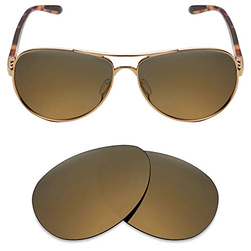 Mryok Polarized Replacement Lenses for Oakley Feedback - Bronze Gold