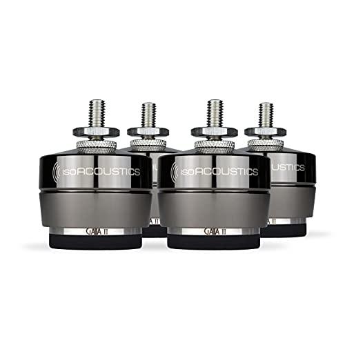 IsoAcoustics Gaia Series - Piedini di isolamento per altoparlanti e subwoofer (Gaia II, 54 kg max)