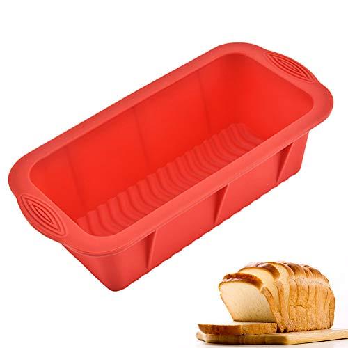 BSTOB Stampi da Forno in Silicone, Stampo per Torta in Silicone Antiaderente Professionale Stampo per Torta Rettangolare Stampo per Pane e Pennello per Olio per cuocere Banana Bread Pagnotta
