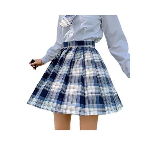 Falda plisada de la muchacha de la cintura alta de las mujeres del verano estilo japonés coreano