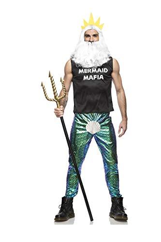 Seeing Red Men's Mermaid Mafia Costume King Neptune Small