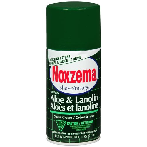 Noxzema Shaving Medicated Shave with Aloe and Lanolin 11 oz (pack of 2)