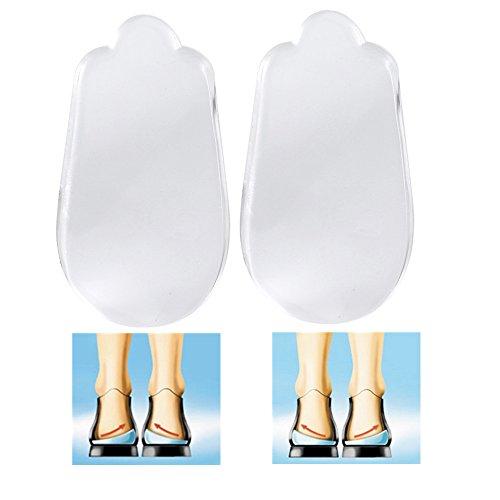 Fersenpolster, Ferse Kissen Bandlaufwerk Weiches Silikon Ferse Einlegesohlen absorbieren Stöße für Fersenschmerzen und Fersensporn Schuhe Einlagen Lift einfügen Pads für O/X Beine Korrektur Support