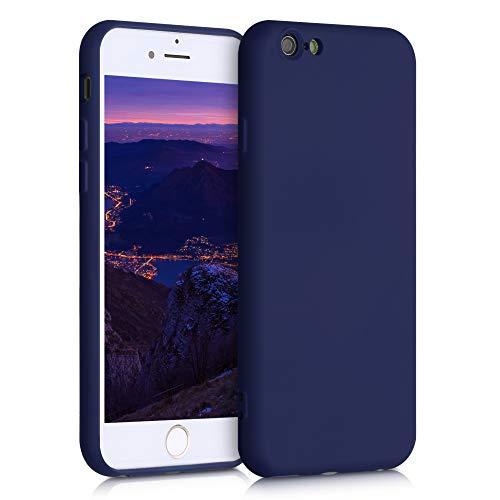 kwmobile Cover Compatibile con Apple iPhone 6 / 6S - Custodia in Silicone Effetto Gommato - Back Case Protezione Cellulare - Blu Mirtillo