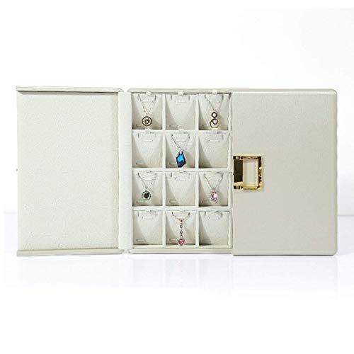 TXOZ - Q 30 Slot Jewellery Box Tray, Velvet Jewellery Rings Display Tray Earring Storage Case Jewellery Storage Box Travel Organiser For Girls Gift Box (Color : Style B)