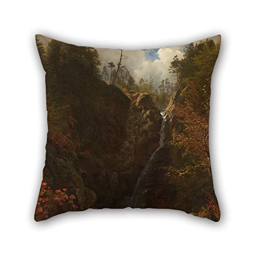 Price comparison product image Bestseason 18 X 18 Inches / 45 By 45 Cm Oil Painting Albert Bierstadt - Glen Ellis Falls Pillow Shams, 2 Sides Is Fit For Girls, son, floor, deck Chair, home Office, office