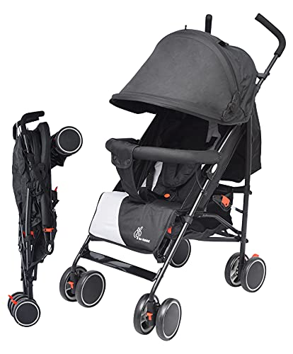 R for Rabbit Twinkle Twinkle Stroller Compact Travel Friendly Pram for Baby | Kids | Infants |Newborn | Boys & Girls of 0 to 3...