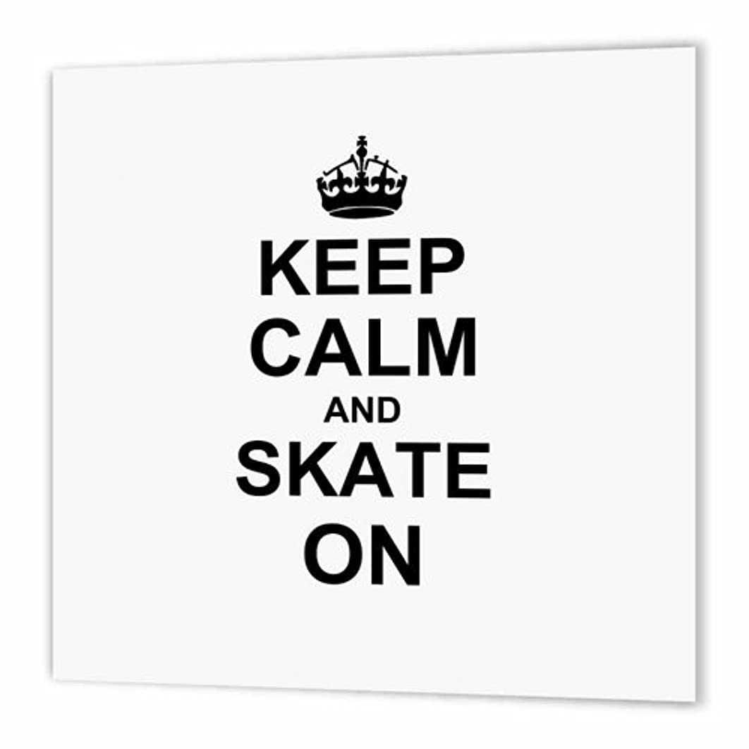 3dRose Keep Calm and Skate on - Carry on Skating - Funny Skateboarding Ice Skater or Roller Skating Gifts - Iron on Heat Transfer, 10 by 10-Inch, for White Material (ht_157771_3)