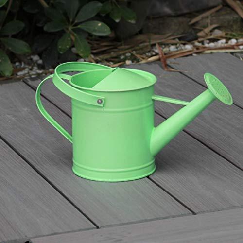 Regadera Regadera Jardín Jardín Regadera Planta Interior Regadera Bote De Boca Larga, Material Metálico 1.6L FKYGDQ (Color : Green)