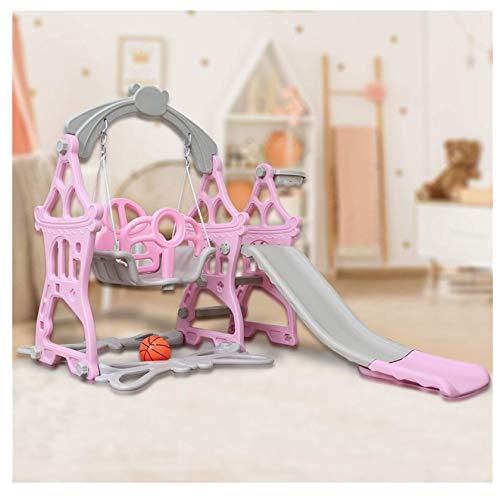 Juego de columpio deslizante, montañismo y columpio, apto para cestas de interior y patio trasero de 3 a 8 años de edad, juguete al aire libre para niños