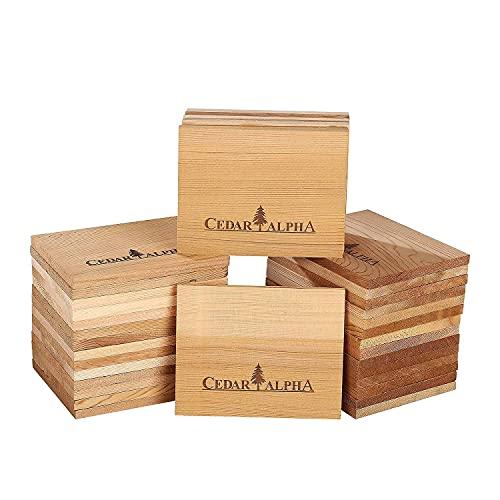 36 Pk Original Alaskan Old Growth Cedar for Grilling Salmon, 4.75''x 3.75'', Add Cedar Flavor to Salmon Fillet, Fish,Seafood,Fruit,Veggies,Restaurant Quantity