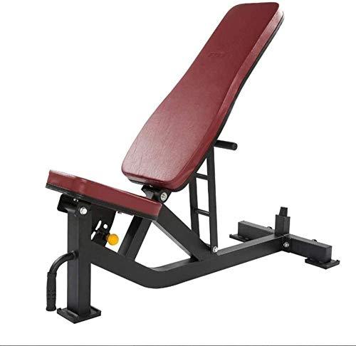 mjj Banco de pesas ajustable estándar, banco de pesas, dispositivo de fitness en casa, multifuncional, para sentadillas, gimnasio, respaldo