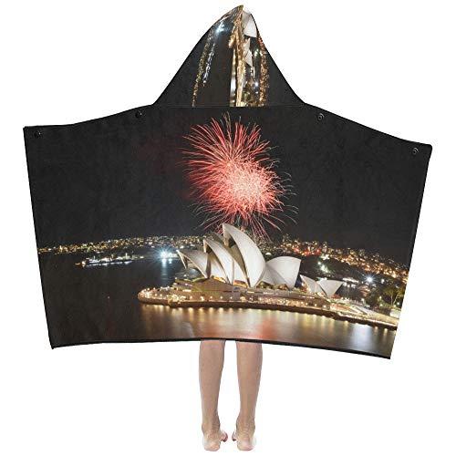 Mantas capucha niños Hermosa Sydney Opera House Manta