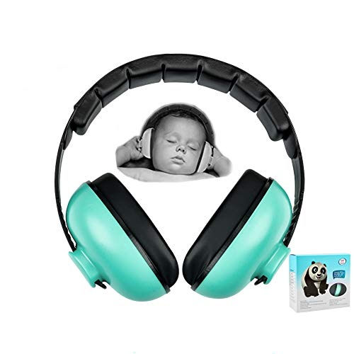 Baby Earmuffs Infant Hearing Protection Noise Cancelling Headphones for 3 Months to 2 Years Babies (Mint Green)