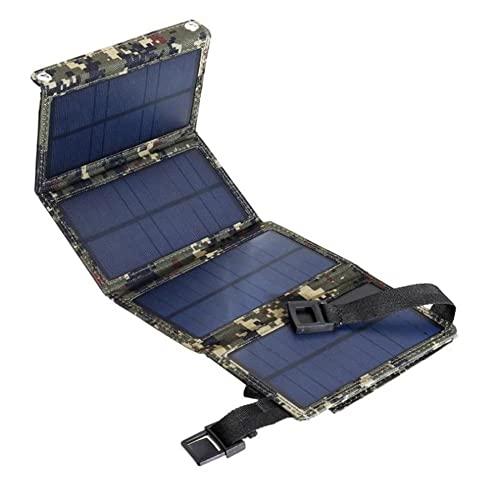 N//B Cargador Solar 20W, Capa De Plástico Repelente De Suciedad, Cargador Rápido USB, Panel Solar Plegable para Traval, Placa De Carga Solar para Acampar Al Aire Libre, para Teléfono Móvil