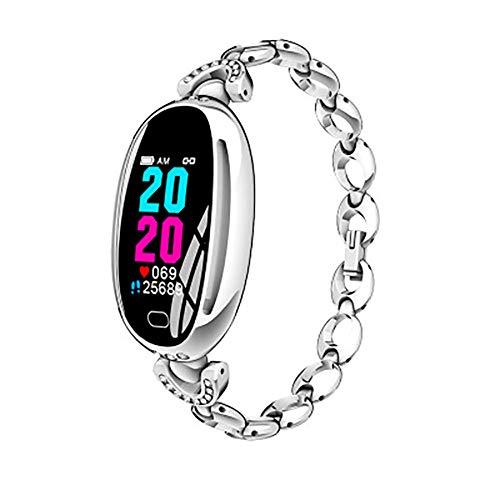 Mujer Fitness Reloj Inteligente de las Mujeres Pulsera Smartwatch Podómetro Monitor de Frecuencia Cardíaca de Salud Ejecute Señora Reloj Deportivo Para Android IOS-B