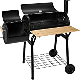 TecTake Charcoal Grill, Portable BBQ, with Temperature Thermometer, Black