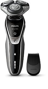 Philips SHAVER Series 5000 - Afeitadora (Batería, Ión de litio, Rotación, Negro, Plata, LED, Ergonomic)