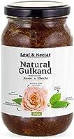 Leaf & Nectar Natural Gulkand | with Kesar & Elaichi - Prepared Using Damask Rose & Rock Sugar | Natural Organic (500 gm)