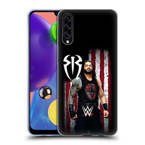 Head Case Designs Offizielle WWE Roman Reigns Amerikanische Fahne Superstars Soft Gel Huelle kompatibel mit Samsung Galaxy A70s (2019)