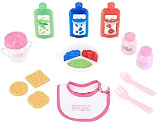 You Me 15 Piece Doll Snap Mix Food Set with Carrying Case