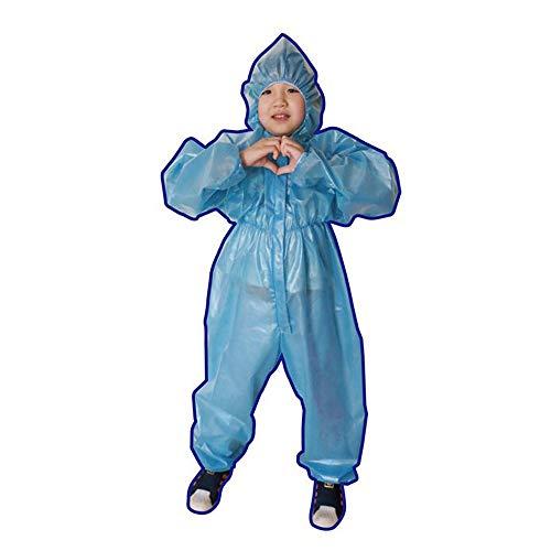 LOVE-HOME Kinder-Schutzkleidung, siamesische Isolierkleidung, Einweg-Kleidung, staubdichte Kleidung, mehrere Größen L blau