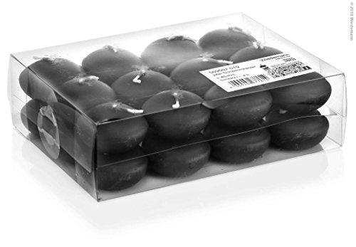 Schwimmkerzen Schwarz 24 Stück 45 mm Durchmesser