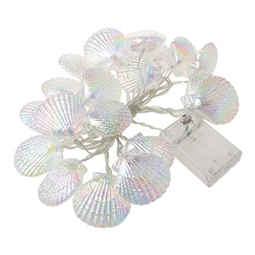 TCM-KE Seashell Starfish Conch Light String LED 3000K Warm White Garland Lights Timer by Festive Lights