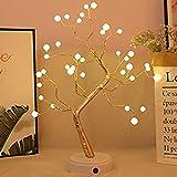Luces de rama LED, luz nocturna en forma de 谩rbol de alambre de cobre con luz c谩lida, 36 ledes, ramas ajustables, bricolaje, USB recargable, para Navidad, A帽o Nuevo, decoraci贸n del hogar