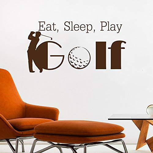 Tianpengyuanshuai Golf muurtattoos eten slaap spelen woorden vrije tijd sport deuren en ramen vinyl sticker woonkamer Golf Club decoratie