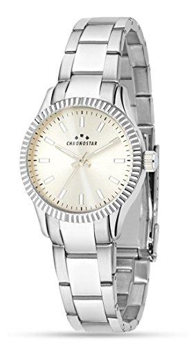 Chronostar Watches Orologio Analogico Quarzo da Donna con Cinturino in Acciaio Inox R3753241511