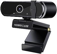 Cámara Web, HOMSCAM Webcam Enfoque Automático con Micrófono Estéreo 1080P HD Webcam de Ordenador Enchufable para Grabacion...