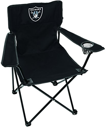 Rawlings NFL Gameday Elite Lightweight Folding Tailgating Chair, with Carrying Case, Las Vegas Raiders