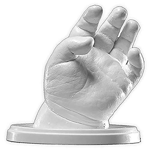 Lucky Hands® Huellas en 3D   Improntas Mano   Idea de Regalo para el Día de la Madre (A: 0-6 Meses   sin Accesorios, 4-6 moldes)