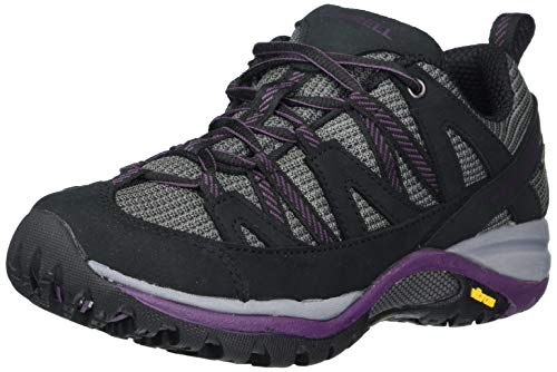 Merrell womens Siren Sport 3 Waterproof Hiking Shoe, Black/Blackberry, 9 US