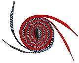 Easy Tie Shoelaces Red/Black & Grey 37' - 94cm
